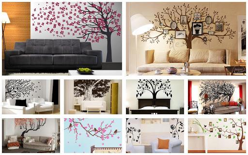 Tree wall murals