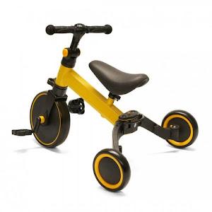 Tricicleta multifunctionala U-Grow 2 in 1, Galben