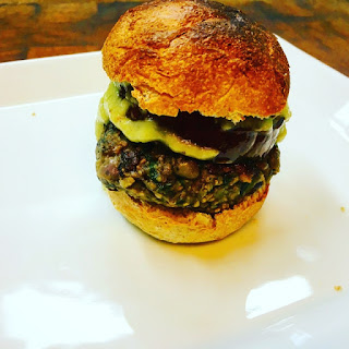 Black Bean and Split Pea Burger