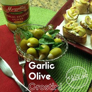 Garlic Olive Crostini