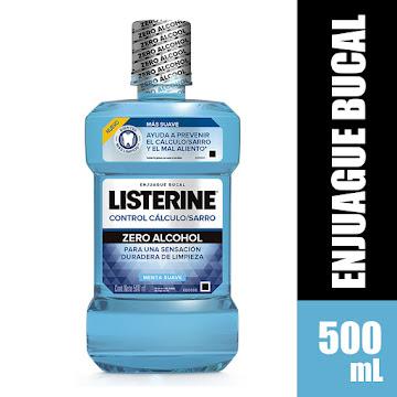 Enjuague bucal LISTERINE Control Calculo Zero Alcohol x 500 ml