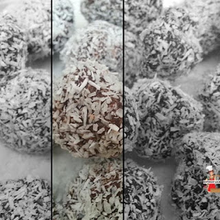 Chocolate Coconut Truffles.