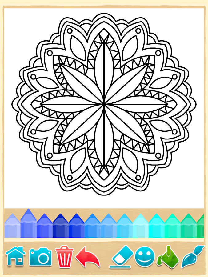 Coloring Pages Of Flowers Games : Mandala coloring pages android apps on google play