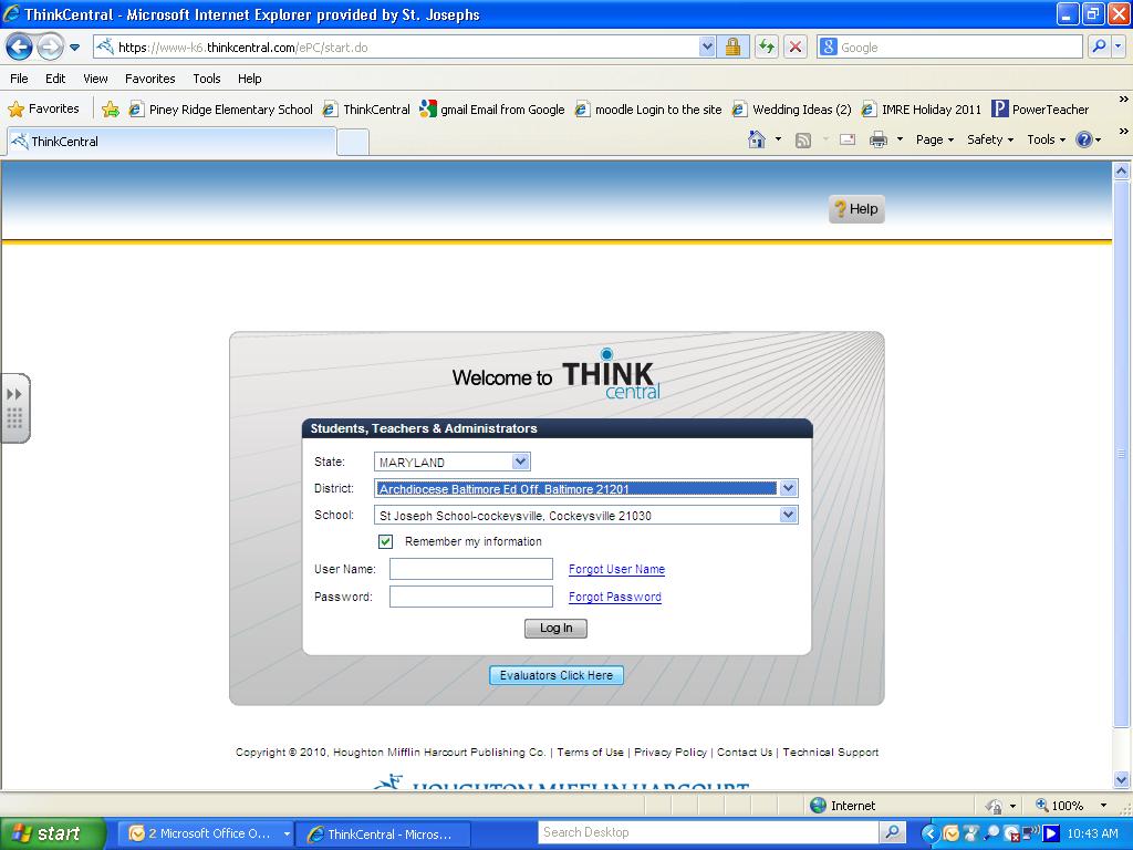 thinkcental access instructions - Mrs  Willard's Page