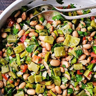 ( Cactus Salad with Fresh Beans).