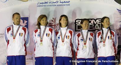 Photo: 3rd Dubai International Parachuting Championship 2011, VR4 Féminin, Argent