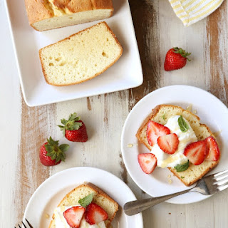 Cream Cheese Pound Cake with Honey Whipped Cream (placeholder).
