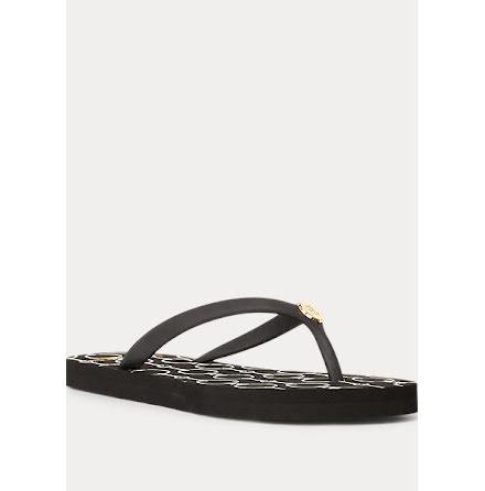 Shawna Chain Link Sandals, black
