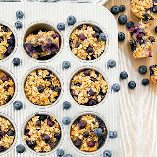 Baked Blueberry Oatmeal Cups Recipe