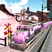 Subway Bike Surf : Train Stunts Trail Free