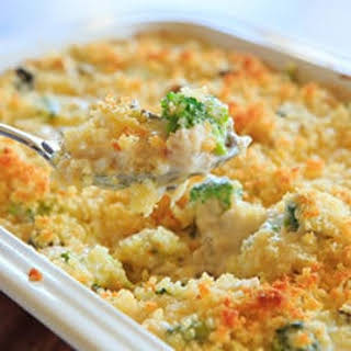 Cheesy Chicken, Broccoli & Rice Casserole (From Scratch!).