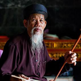 monk by Sorin Tanase - People Portraits of Men ( ald man, monk, old, vietnamese, vietnam, man )