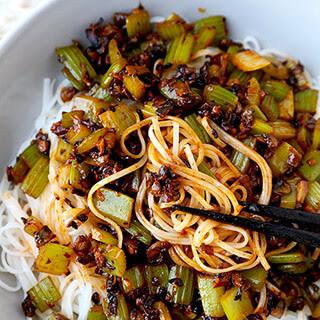 Spicy Vegan Sichuan Noodles.