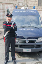 Photo: Carabinieri - he was happy to pose with any tourist who asked.