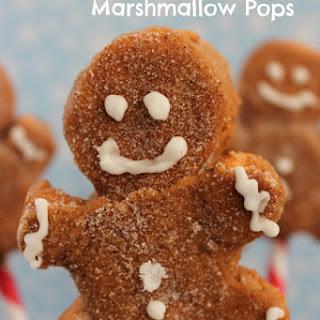 Gingerbread Man Marshmallow Pops