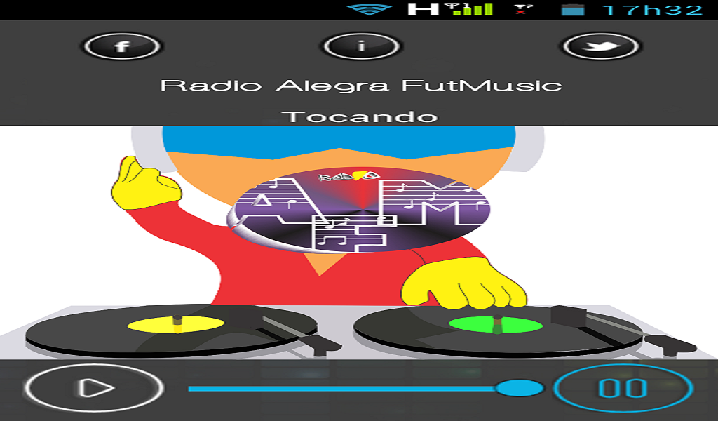 Radio Alegra FutMusic: captura de tela