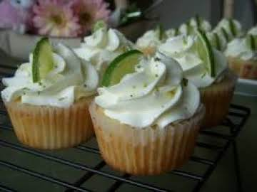 MARGARITA CUPCAKES w/ Tequila lime frosting