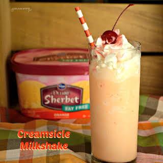 Orange Creamsicle Milkshake.