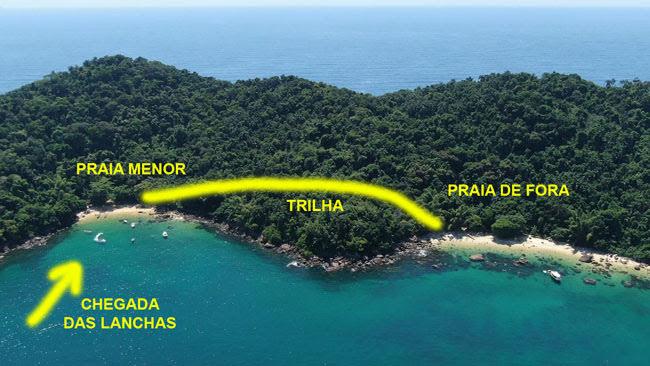 Dica da trilha na Ilha das Couves em Ubatuba