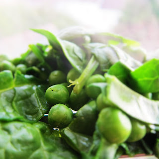 Pea Salad with Spinach, Mint and Rice Recipe
