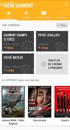 Les Cinémas Pathé Gaumont Android App Screenshot