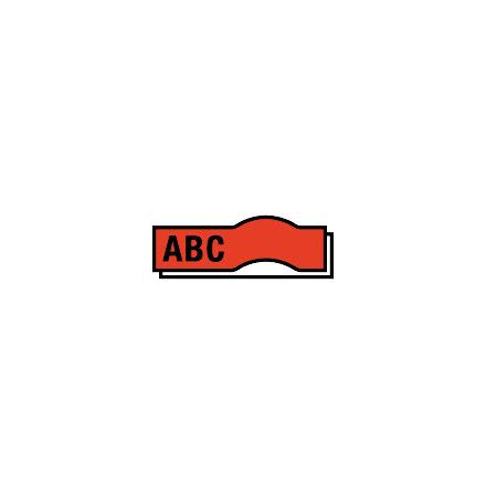 Märkband LetraTag plast    röd