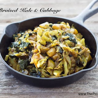 Curry-Braised Kale and Cabbage.