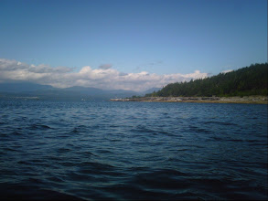 Photo: Crossing Blubber Bay.