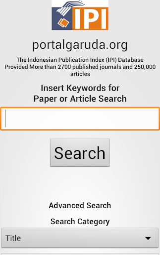 Search Engine PortalGaruda