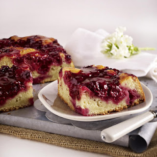 Cherry and Banana Yogurt Cake.