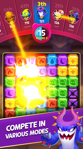 Puzzle Monsters - Puzzle Blast 1:1 Battle is on 1.230 4