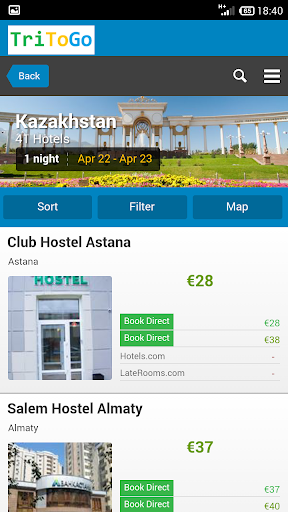 Hotels Kazakhstan by tritogo
