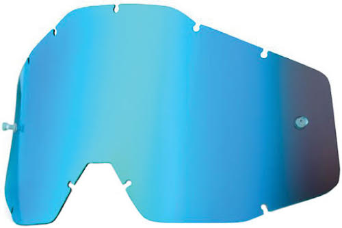 100% Replacement Anti-Fog Dual Lens, Mirror Blue - Vented
