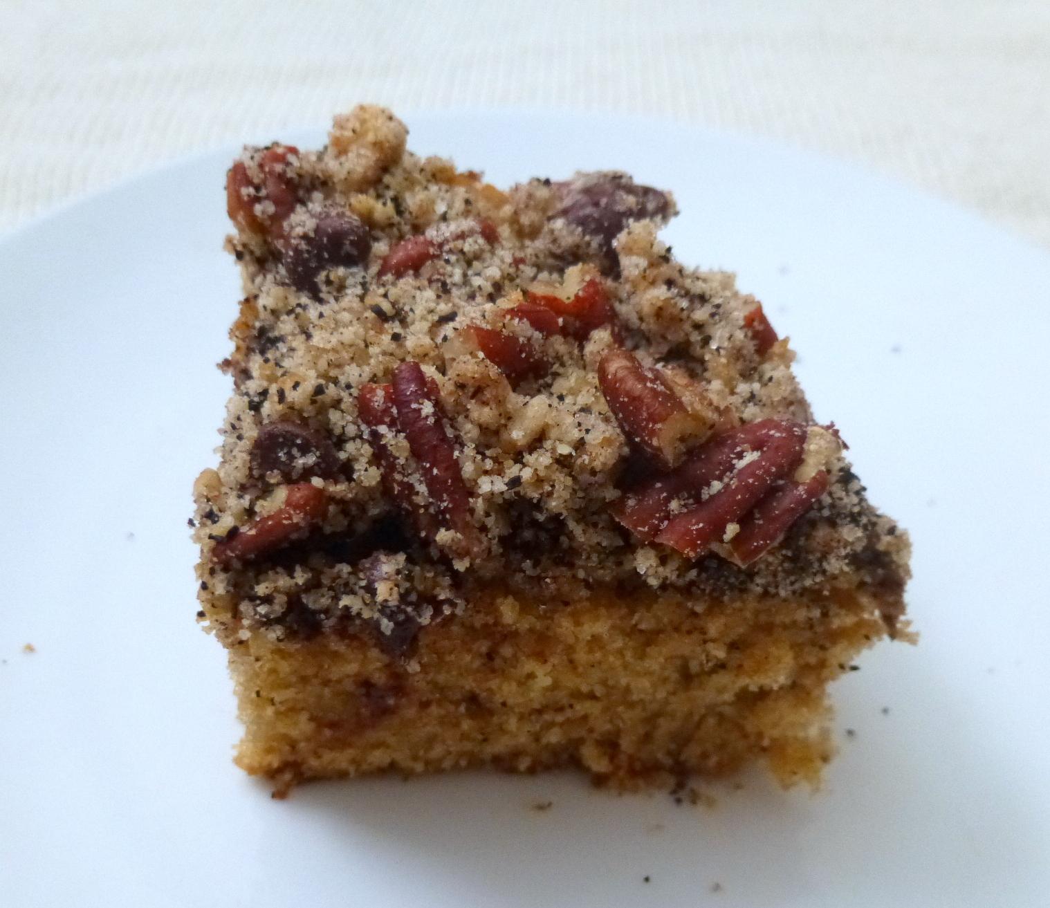 pecan chocolate espresso coffee cake | delicious not gorgeous