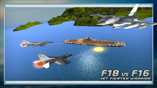 F18 VS F16 Jet Fighter Warrior