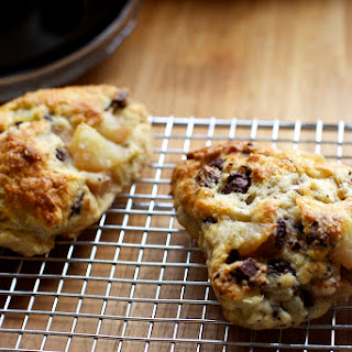 Roasted Pear and Chocolate Chunk Scones Recipe