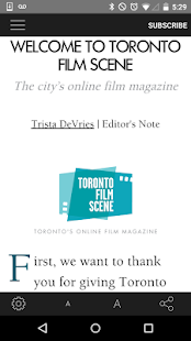 Toronto Film Scene- screenshot thumbnail