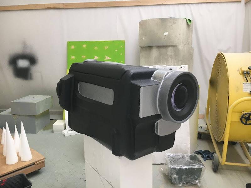 Dallas 3D blowup handycam - geschilderde grote 3D camera