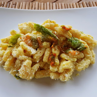 Malloreddus with Zucchini Flowers, Ricotta and Saffron Recipe