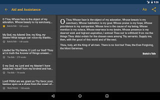 Screenshot of Baha'i Prayers