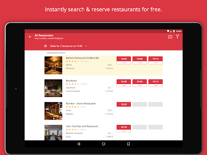 OpenTable - Book Restaurants- screenshot thumbnail