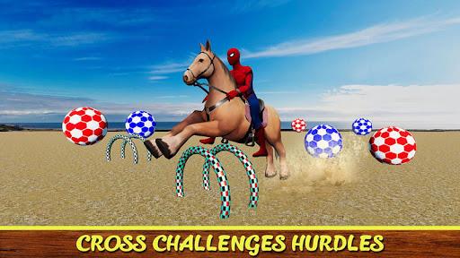 Diligent SuperHeroes Horse Riding 3d  screenshots 2
