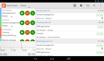 Screenshot of Time Tracking with Easy Tempus
