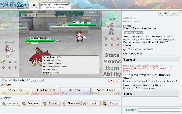Pokemon Showdown Random Battle Tooltip