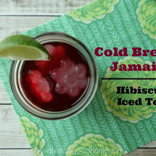 Cold Brewed Jamaica (Hibiscus Iced Tea).