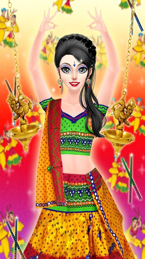 Navratri Fashion Salon Makeover And Dressup Game Android Apps