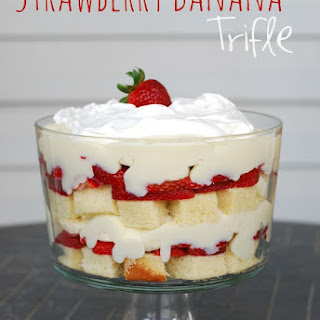 Strawberry Banana Trifle.
