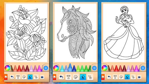 Girls games: Painting and coloring screenshots 8