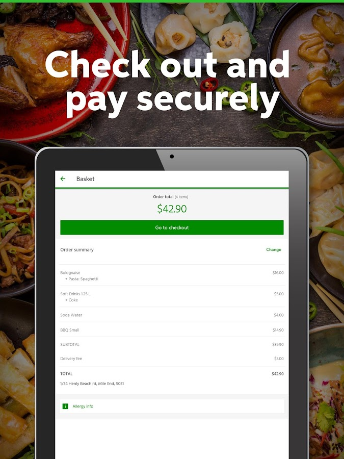 Menulog Order Takeaway Online- screenshot