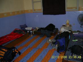 Photo: Unser Zimmer in der Auberge Menata, nachts kommen die Kakerlaken.